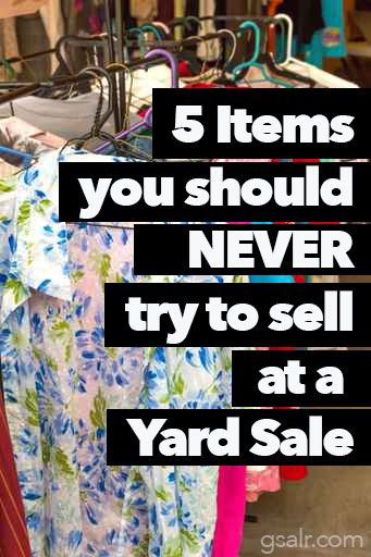 The cardinal rules of yard sales..never sell these 5 things..although I have before!