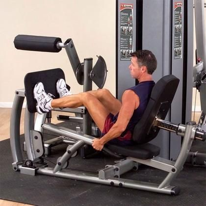 DCLPS Pro Dual Leg and Calf Press Component for DGYM with 200-Pound Weight Stack
