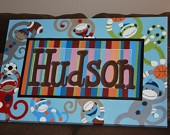Hand Painted Name Canvas