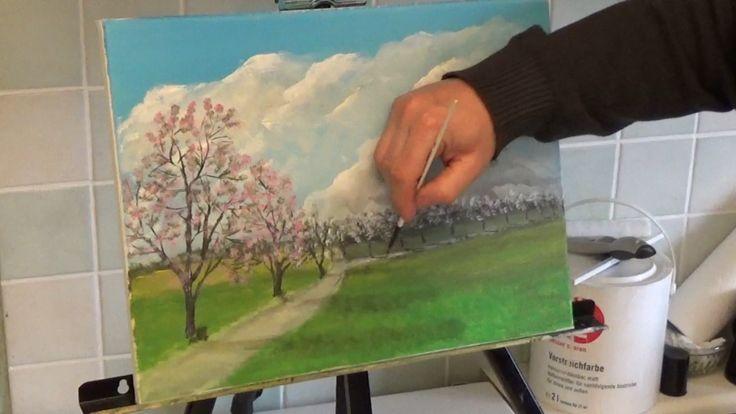 Probiert meinen kostenfreien Online-Malkurs für dieses farbenfrohe Frühlingsbild!