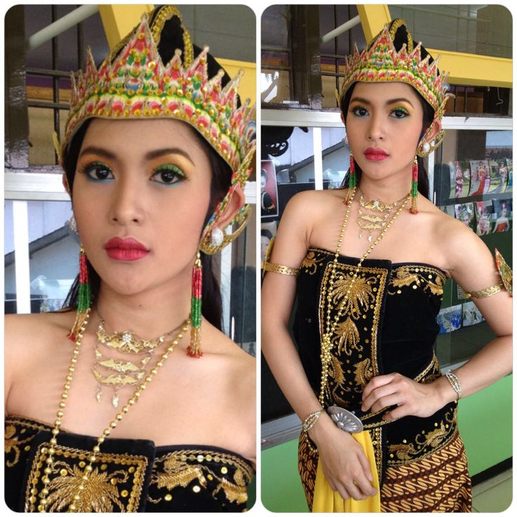 When i was on vacational high school #makeup #traditional #indonesia