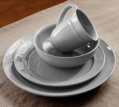 The gray dish set is great for me. I really like the look of these and sometimes like to get away from the plain white. #LGLimitlessDesign #ContestCambria Dinnerware - Gray #potterybarn