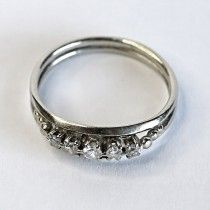 White gold engagement ring with diamonds. $695 http://www.astercollection.com/jewelery-selection/engaging-diamonds-ring.html