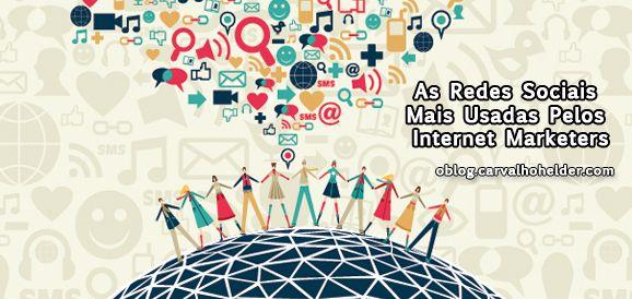 [Artigo] As Redes Sociais mais usadas pelos internet marketers  http://oblog.carvalhohelder.com/  Neste momento, estão disponíveis na internet mais de 500 plataformas de redes sociais, que existem para uma audiência global e onde os utilizadores podem utilizar para interações sociais (...) Continua a ler no Blog: http://oblog.carvalhohelder.com/as-redes-sociais-mais-usadas-pelos-internet-marketers/