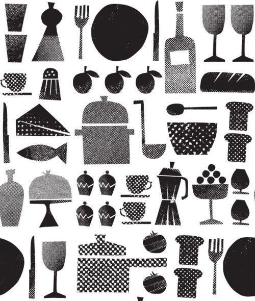 Texture // Love. food inky illustration retro illustration graphic design