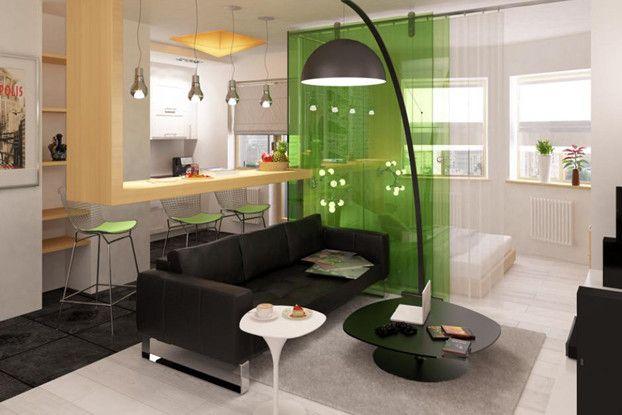 small apartment interior by abkorobka