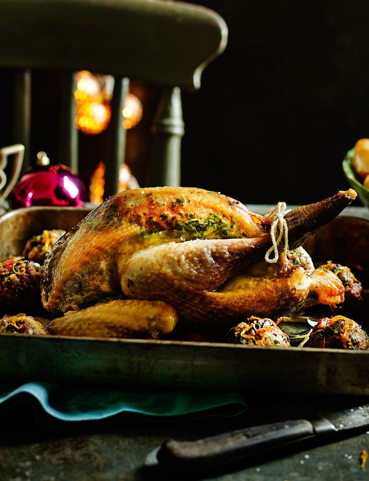 Going for game is a great way of experimenting with your roast. Impress guests with this roast guinea fowl recipe with prune and bacon stuffing.