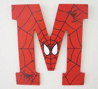 Ideas para Tu Fiesta: Spiderman - Hombre Araña.  Letras. Cumpleaños. Birthday. Fiesta. Party. Ideas
