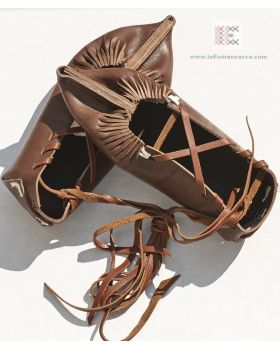 Romanian peasant hand crafted leather shoes. Opinci #RomanianBlouse #ie #BlouseRoumaine #Romania