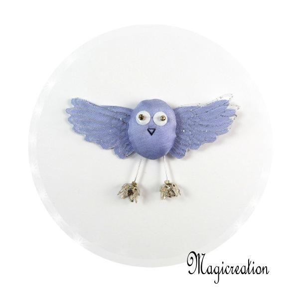MAGNET OISEAU SOIE MAUVE - Boutique www.magicreation.fr