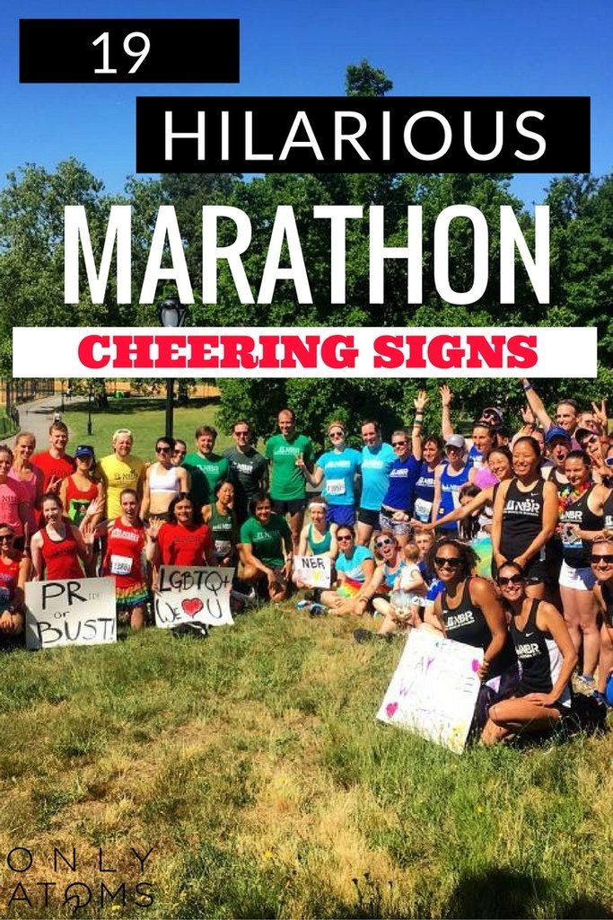 19 Funny Marathon Cheering Sign Ideas!  #marathon #nycmarathon #motivation #running #marathonsigns #racesigns #marathoncheering