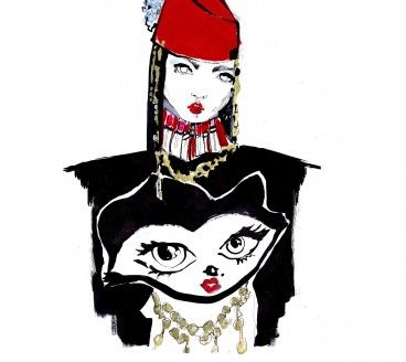 Illustration for Belle Sauvage at London Fashion Week