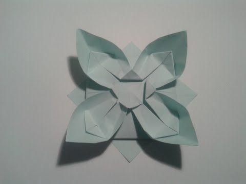 ▶ Como hacer una flor de papel sencilla (origami) - YouTube