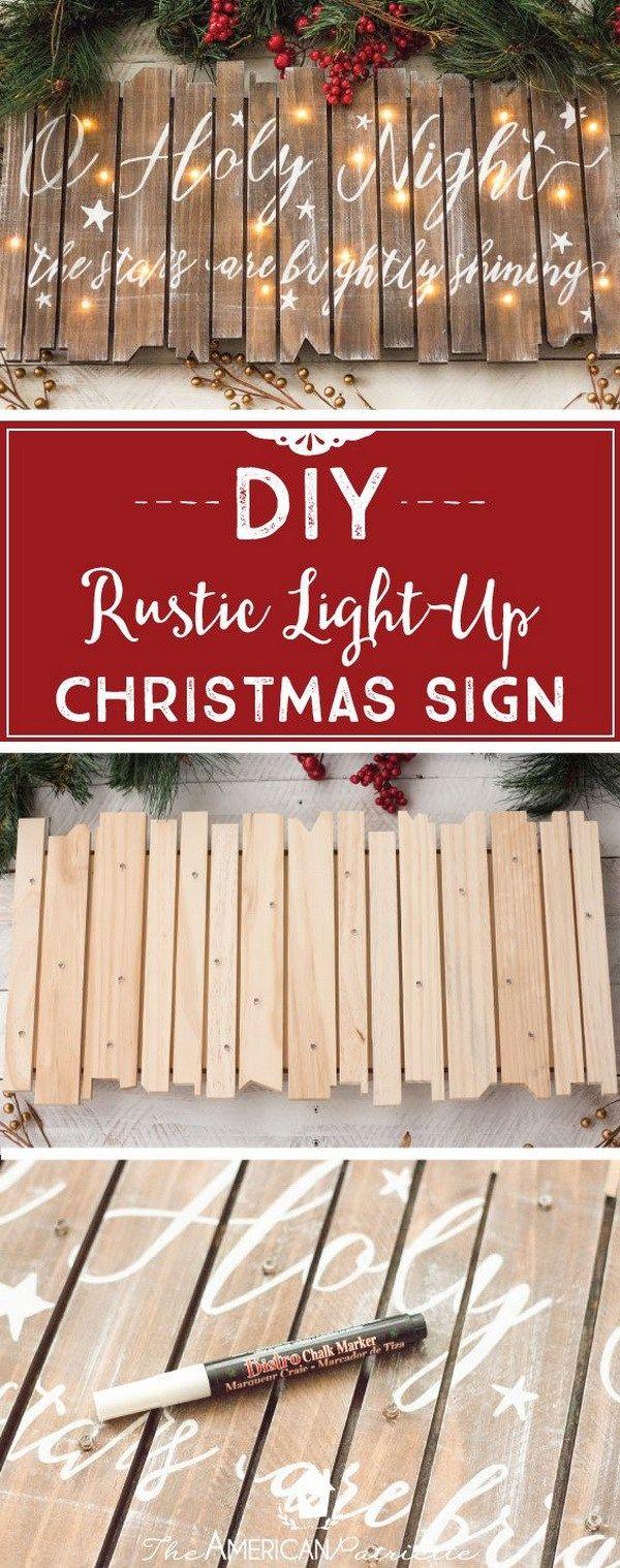 45 Cool DIY Rustic Christmas Decoration Ideas