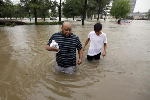 Video Shows Local Reporter Rescuing Man In Houston Flooding Live...: Video Shows Local Reporter Rescuing Man In Houston Flooding Live on TV…