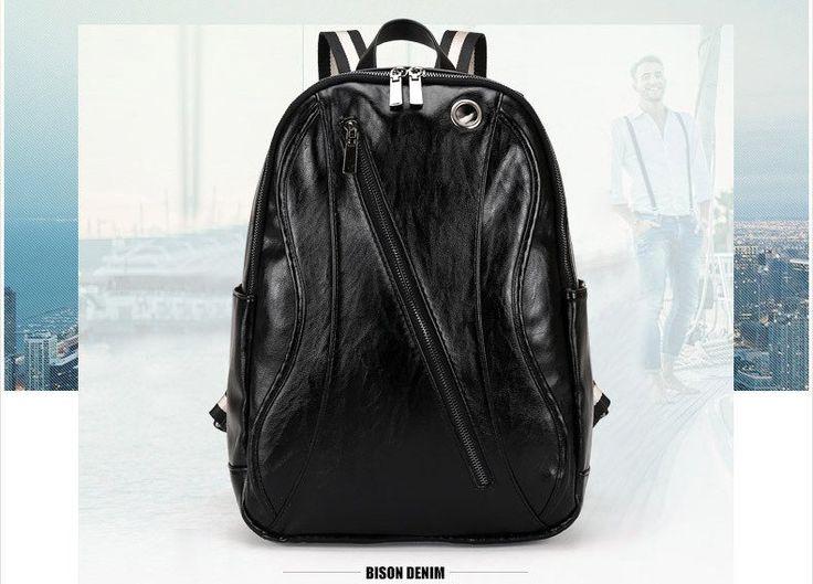 Latest Fashionable Men Vintage Backpack Teenagers Rucksacks Travel Backpacks Bag Faux Leather