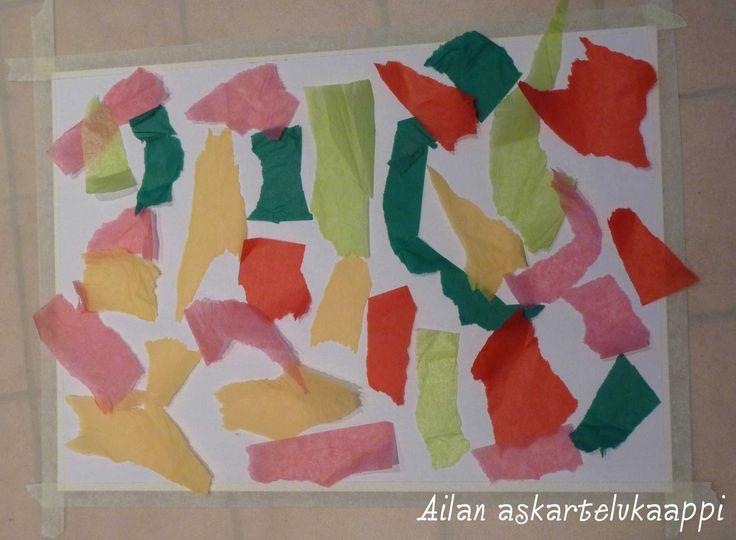 Askartelukaappi: Silkkipaperilla maalaaminen