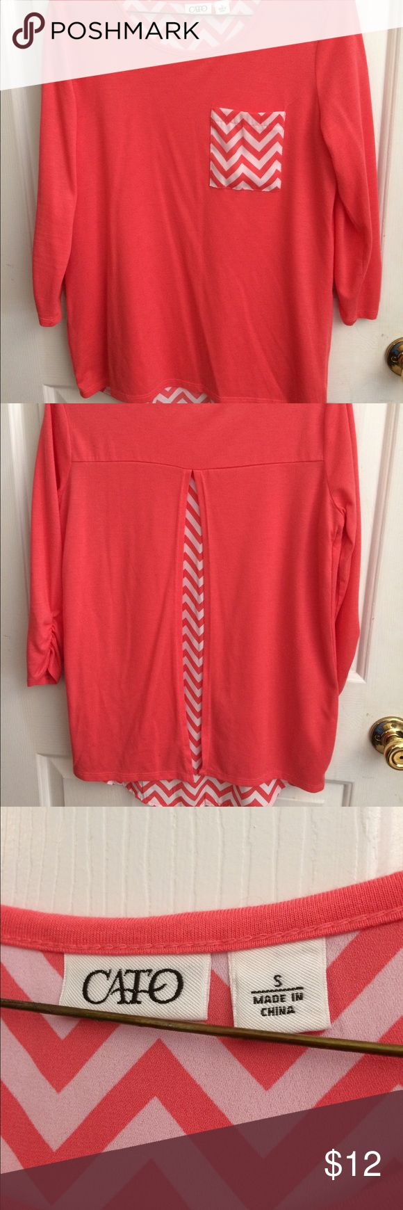 Chevron Blouse Pink chevron blouse from Cato size S Cato Tops Blouses