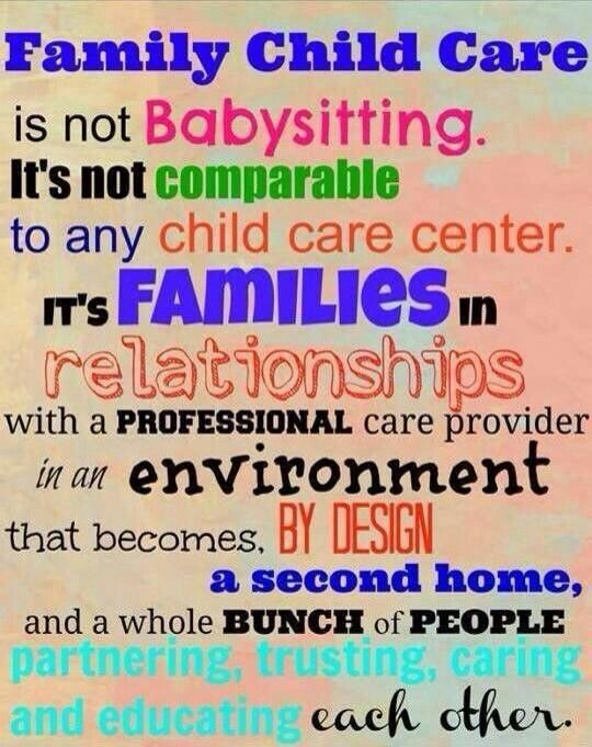 I am a Family Child Care Provider