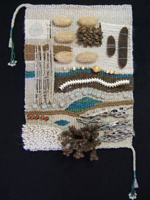 desertsong studio: a touchable tapestry A wonderful artwork incorporating various found artefacts