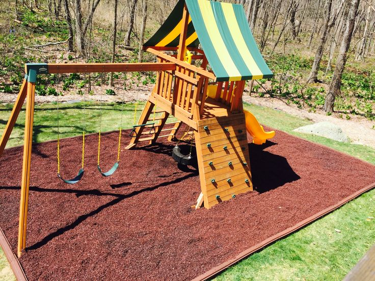 25 best swing set installations images on pinterest for Tyre swing ideas