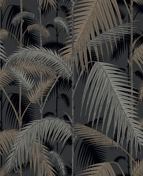 Palm Jungle Metallic wallpaper by Cole & Son - this could be cool for top portion with dark ceiling
