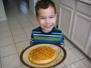 Whole-Wheat Peanut Butter Waffles | Recipes | Pinterest