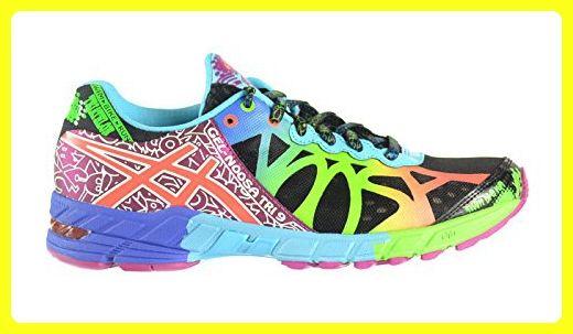 Asics Gel-Noosa Tri 9 Women's Shoes Black/Neon Coral/Green t458n-9023 (9 B(M) US)