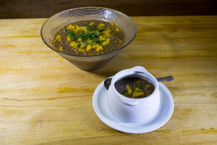La recette de soupe lentilles et citrouille du Byblos