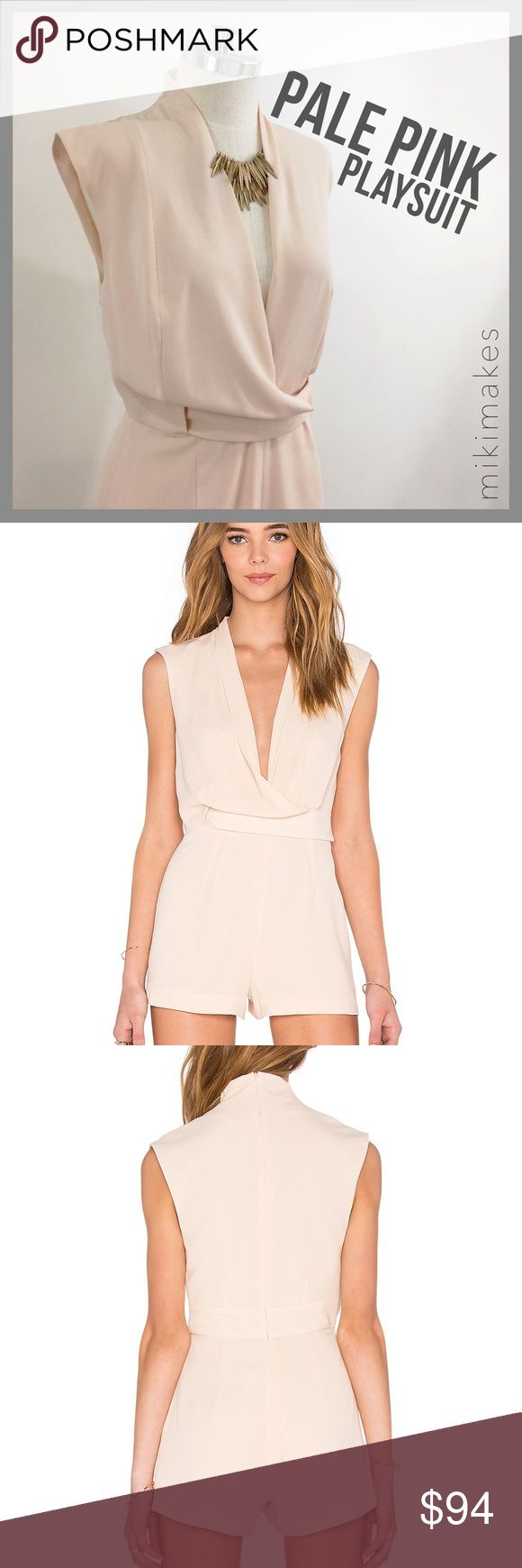 """🆕 FINDERS KEEPERS • NWT pale pink playsuit • NEW very cute & polished play suit from Australian brand FINDERS KEEPERS. Perfect for a weekend date! • easy to throw on & go!  An all in one outfit • high invisible zip in the back of the neck and wraps nicely to the front going into a v-neck • self fabric belt detail • sleeveless so it's perfect for summer  96% polyester 4% elastane  Wash gentle cold dry inside out  ✂️  Bust = 34"""" ✂️  Waist = 29"""" ✂️  Length = 30""""  • sorry no trades • please…"""