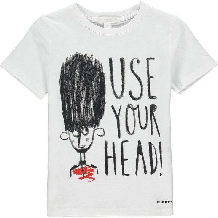 Burberry Use Your Head T-shirt Met Opdruk