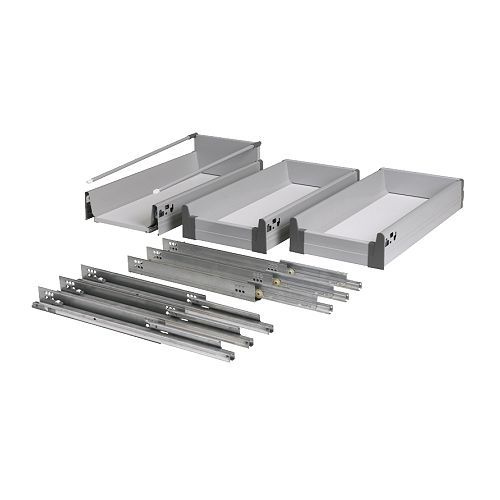 (make Toe Kick Drawers From This Kit) RATIONELL 5 Piece Fully Extending  Drawer Set IKEA Fully Extending, For Easy Overview And Access U2026 | Dream  Kitchen In ...