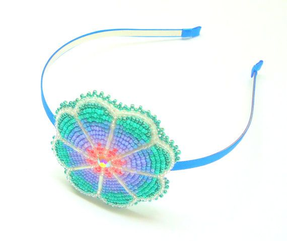 Share your Native american beaded rosettes strips headbands variant
