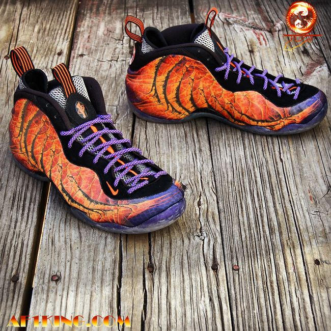 Nike Air Foamposite One custom by GourmetKickz - Phoenix Rising