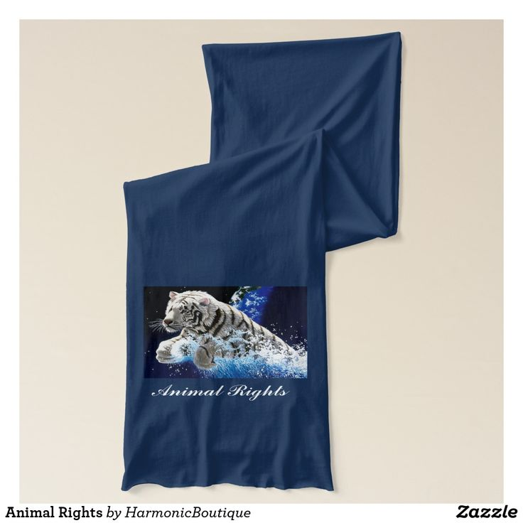 Animal Rights  This beautiful scarf says a lot and for 22,50 it can be yours, Harmonic Awakening supports the rights of all spirit beings.   Visiit my site earthrisinginc.com Visit my Storehttps://www.zazzle.com/harmonicboutique