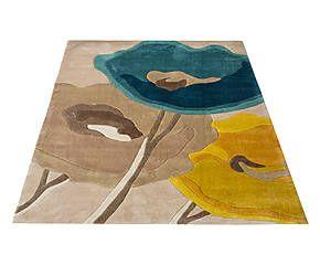 Tappeto Poppy Flowers giallo - 230x160 cm