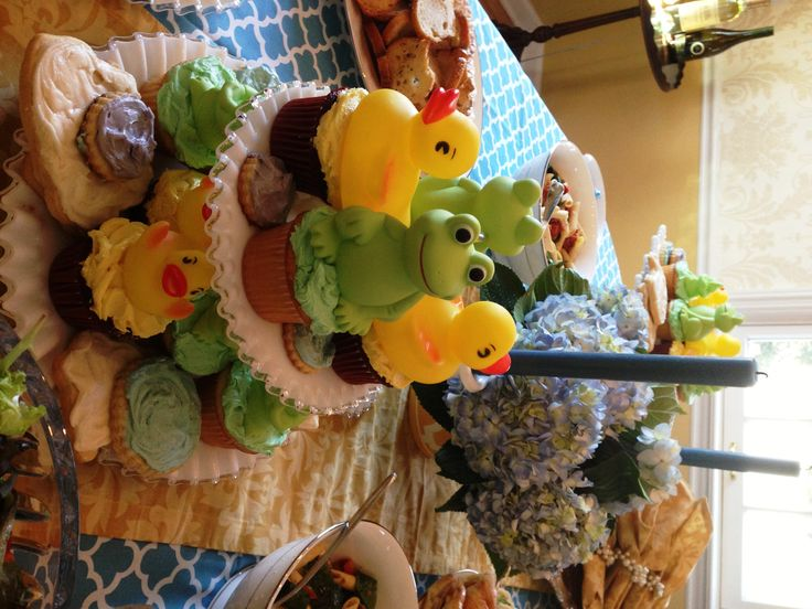 how to set up a baby shower buffet table