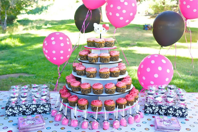 1000 images about sugerencias fiesta hello kitty on pinterest for Table exterieur hello kitty