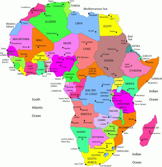 Political Map of Africa | Map of Africa Political Pictures | Maps of Africa Pictures and ...