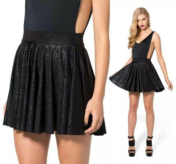 Black Wax cheerleader skirt- limited
