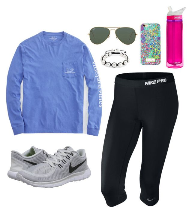 """""""Untitled #67"""" by valerienwashington on Polyvore featuring Vineyard Vines, NIKE, Bling Jewelry, CamelBak and Ray-Ban"""