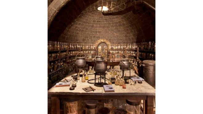 Professor Snape's Potions Classroom.  [2nd of 7 pins from article on the new Warner Bros Studio Tour of the film studios outside London where the Harry Potter movies were filmed]