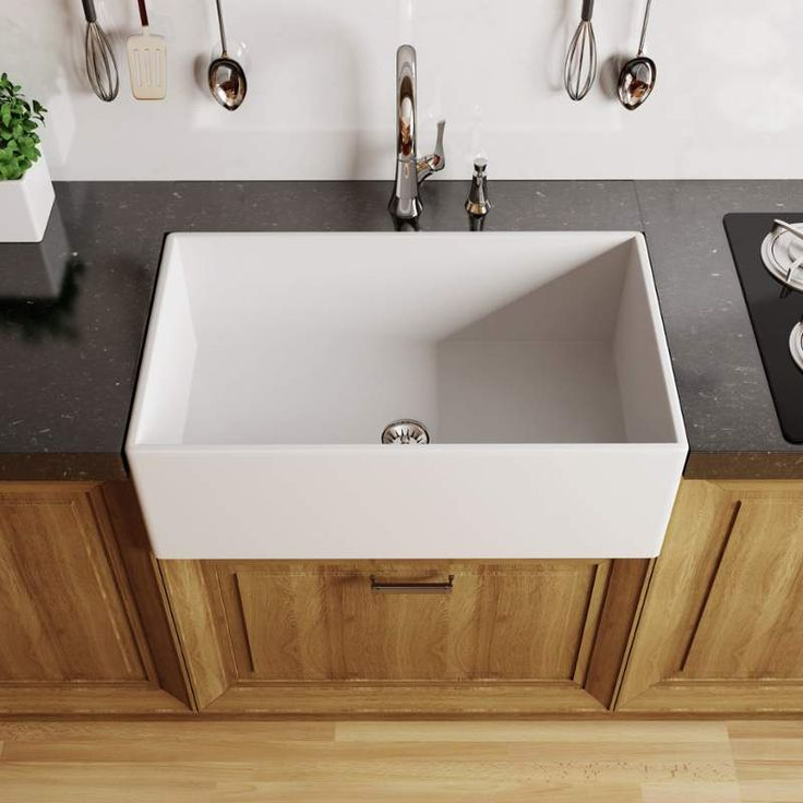 stylist and luxury supply lines for kitchen sink. Shop for the Miseno White Modena Single Basin Farmhouse Fireclay Kitchen  Sink and save 81 best Inspiration images on Pinterest Dream kitchens
