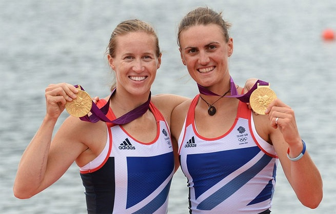 London Olympics 2012 Heather Stannning and Helen Glover