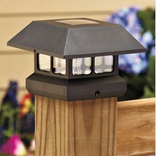 lights post cap solar post decks patios yards stuff cap lights. Black Bedroom Furniture Sets. Home Design Ideas