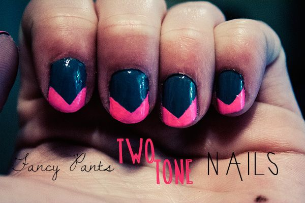 DIY Two Tone Nails