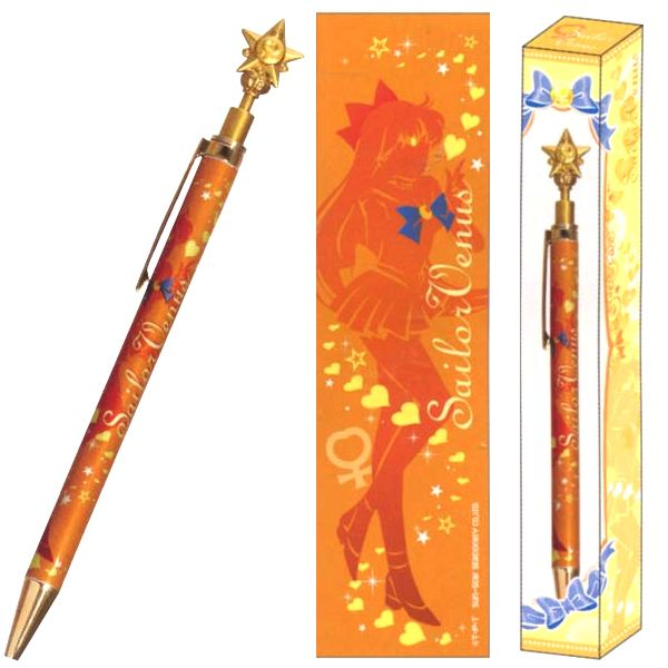 Official Sailor Venus pen! http://www.moonkitty.net/reviews-buy-sailor-moon-stationary-books-bags.php #SailorMoon