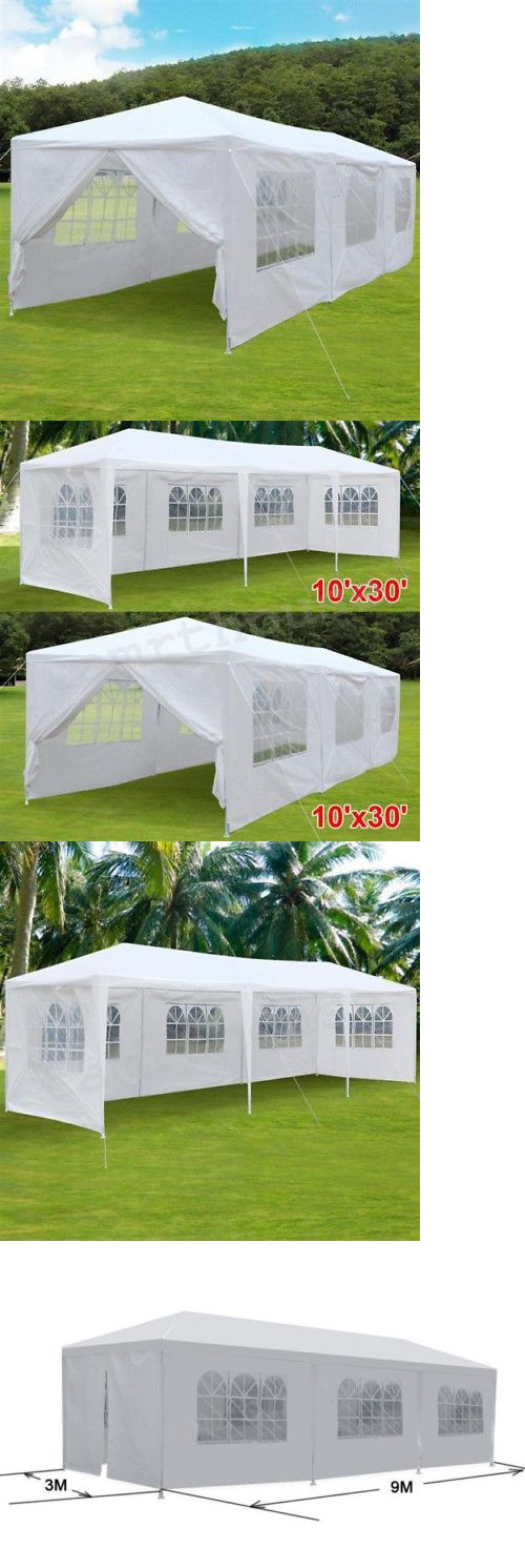 Marquees and Tents 180994: 10 X30 Party Wedding Outdoor Patio Tent Canopy Heavy Duty Gazebo Pavilion White -> BUY IT NOW ONLY: $108.98 on eBay!