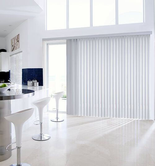 Levolor Vinyl Vertical Blind in Horizon Gray & 117 best Vertical Blinds images on Pinterest | Sheet curtains ...