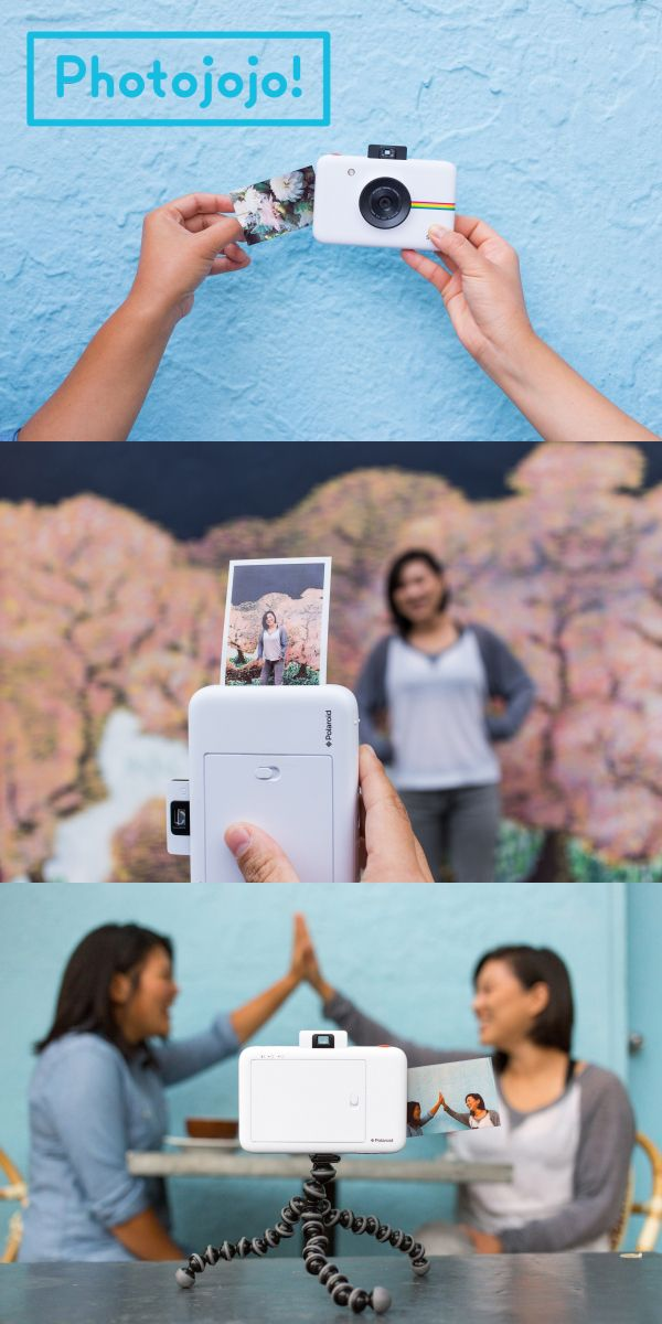 Awww snap! Instantly print and save a digital copy for later gramming with the Polaroid Snap!